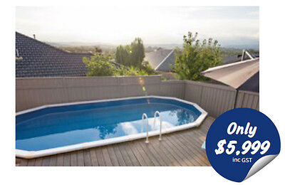 Whitsunday Pool Package 6.2m x 3.8m x 1.37m. Saltwater Above ground pool