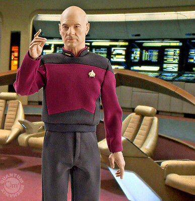 Qmx STAR TREK TNG CAPTAIN JEAN LUC PICARD 1:6 Scale MASTER SERIES Figure NEW