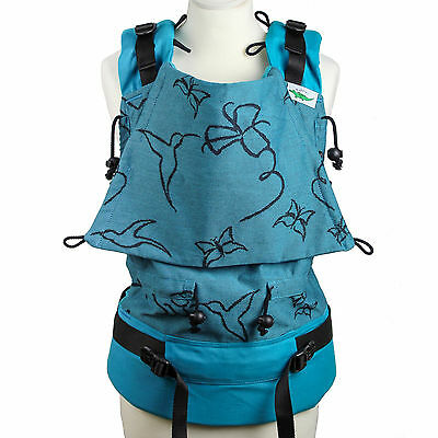 Buzzidil | Hummingbirds at Night teal | XL | Versatile | Babytrage