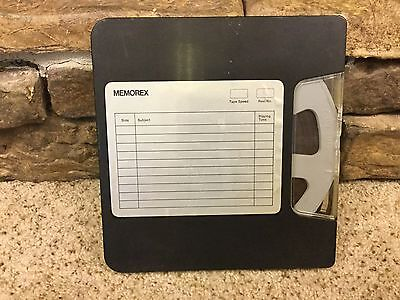 Vintage Reel to Reel Memorex 1.0Mil X 800 Tape n Case Tape Recorder USA