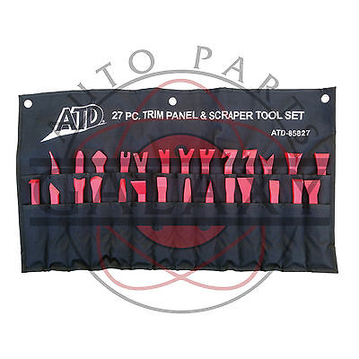 ATD 27-Piece Trim Panel Removal & Scraper Tool Set #85827