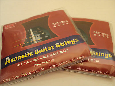 1 x set GX Acoustic Guitar Strings