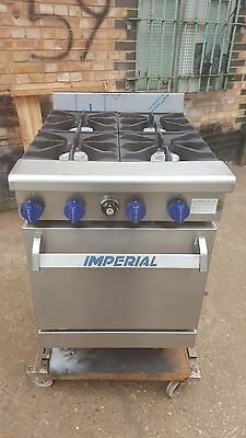 Imperial 4 Ring Heavy Duty Commercial Cooker With Oven Free Standing 4 Burner