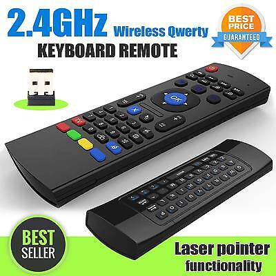 2.4GHz Wireless Fly Air Mouse Keyboard Remote For Android PC Smart TV Box MX3 M8