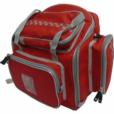 Clearance Red micrAgard™ wipe clean Paramedic Backpack Reflective Piping/Chequer