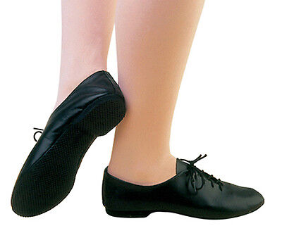 Living Dance Jazz Shoes Leather Rubber Sole