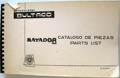 BULTACO Matador Mk4 Original Motorcycle Spare Parts List Apr 1972 #75.32-117-1