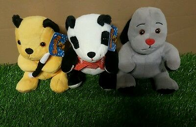 """11"""" Sooty and Sweep and Soo Soft toys"""
