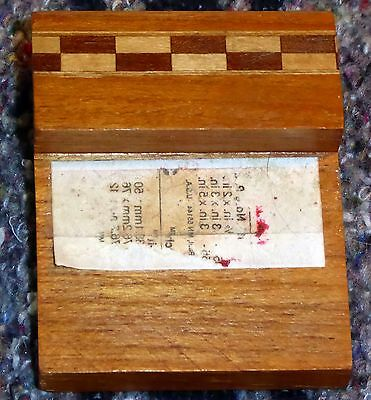 """Heartwood Creations Wooden 2"""" x 1 1/2"""" Sticky Notes Post-It Notes Holder"""