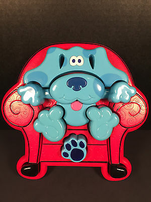 Blues Clues Puzzle Thinking Chair Plastic Blue Dog 1998 Tyco 3D Chunky