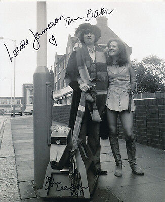 Tom Baker, Louise Jameson and John Leeson Signed Photo - Doctor Who - AG206