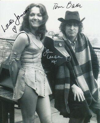 Tom Baker, Louise Jameson and John Leeson Signed Photo - Doctor Who - AG213