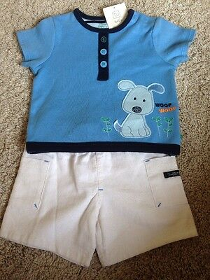 Baby Boy's Shorts and T-shirt Set, Size 0-3 Months