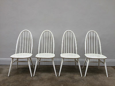 Vintage 1960s Ercol Windsor Blonde Dining Chairs. Retro Mid Century