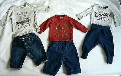 Baby Boy Outfits X3 Next & F&f (Size 0-3 Months)