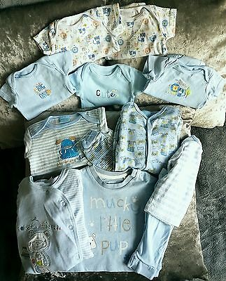 Baby Boy Puppy Blue Babygrows, Vests & Outfit Size (0-3 Months)