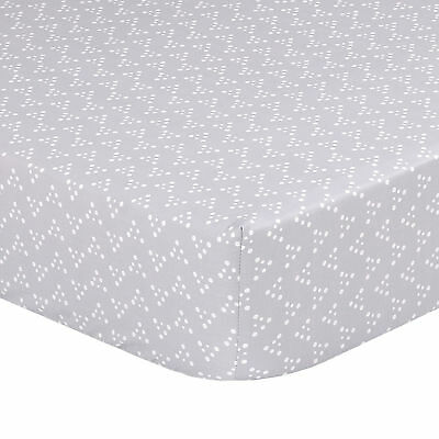 Little Peanut Grey Geometric Dot Baby Fitted Crib Sheet by The Peanut Shell