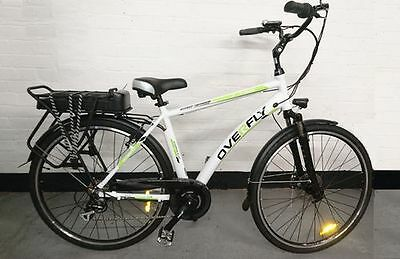 Overfly Gents e-bike, comfortable upright riding position (EPAC electric bike)