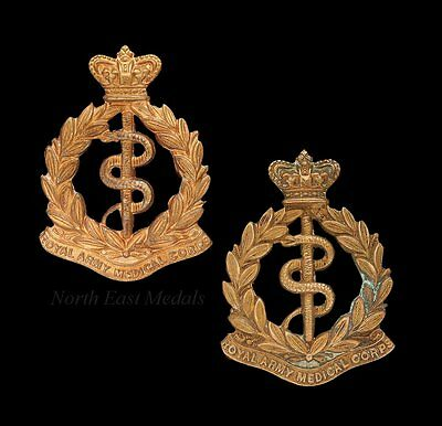 Pair of Victorian RAMC Royal Army Medical Corps Collar Badges