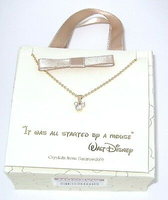 Disney Authentic Necklace✿Mickey Mouse Head Made with Crystals from Swarovski ®