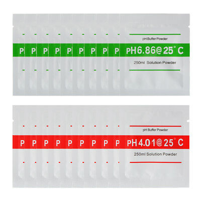 20pcs 4.00 6.86 PH Buffer Powder for PH Meter Measure Calibration Solution BI672