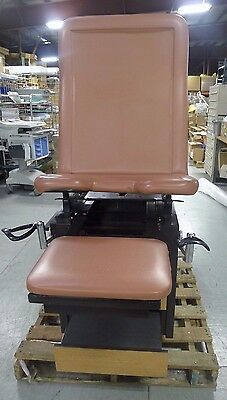 Enochs Rose Color Exam Table  w/ Stirrups & Drawers USED