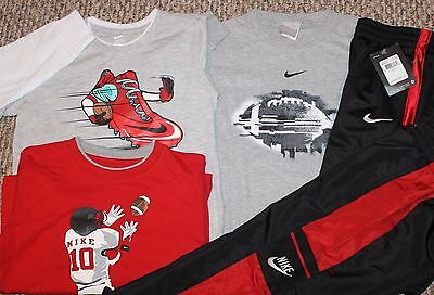 New! Boys Nike 5 pc Lot/Outfit (3 Long Sleeve Shirts, 2 Pants;Football) - Size 6