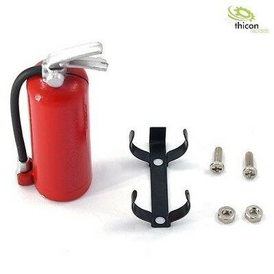 Fire Extinguisher 1:10/1:14 Red with Holder Metal