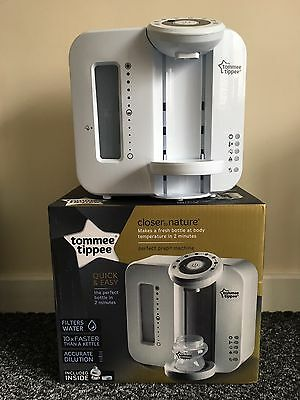 """Tommee Tippee Closer to Nature """"Perfect Prep"""" Fresh Baby Bottle Milk Maker"""