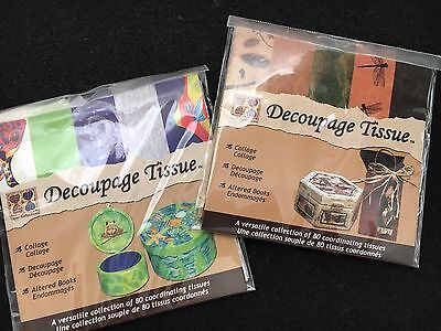 2~DMD Industries, Inc. Paper Reflections ~Decoupage Tissue Packs~80 sheets each