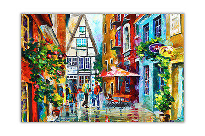 AT54378D Morning in Bavaria By Leonid Afremov Gloss Poster Print Wall Pictures