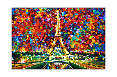 AT54378D Paris Of My Dreams By Leonid Afremov Re-Print Poster Wall Art Pictures