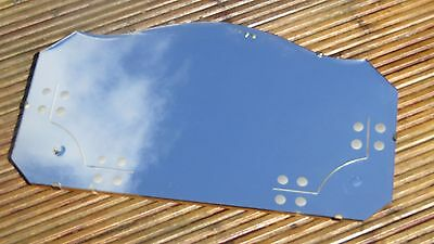 Pretty 30s Art Deco Vintage Frameless Bevelled Scalloped Edge Wall Mirror Chain