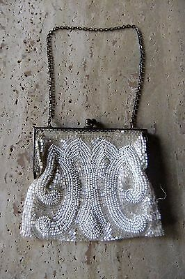 VINTAGE 1930s-1940s Beaded Evening Purse. French. Estate Collection