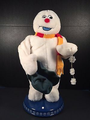 Spinning Snowflake Snowman Frosty Gemmy Sings Dances Lights 2004