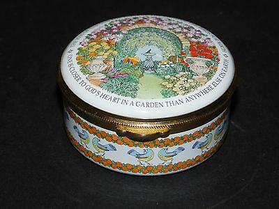 "Staffordshire Enamels ""the Kiss Of The Sun For Pardon.."" Garden Handpainted Trin"