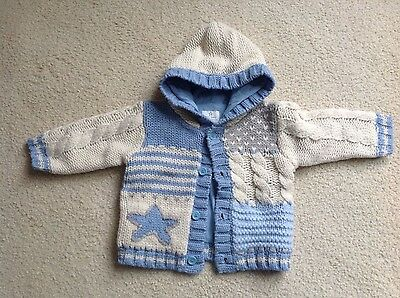 IMMACULATE baby boys NEXT Chunky Knit Cardigan Jacket  9-12 Months