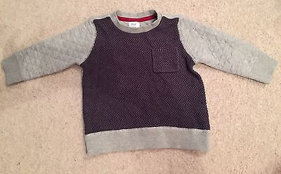 Boys Warm Jumper 12-18 Months F&F