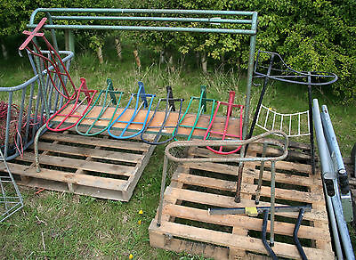 Big Lot of Saddle Racks Hanger - Tack Stand Holder Stubbs Horse Stable Equipment