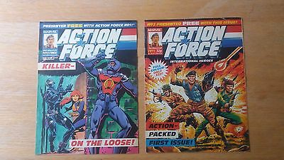 Marvel Action Force UK Comic 1987 Issues 1 and 2