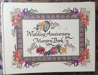 Our Wedding Anniversary Memory Book Album Scrapbook Floral Marriage