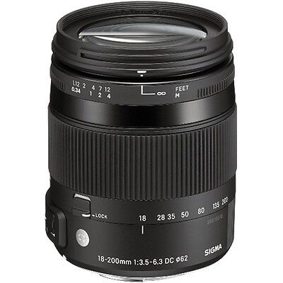 Brand New Sigma AF 18-200mm f/3.5-6.3 DC OS HSM (Contemporary) for Canon Lens