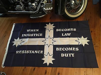 NEW WHITE Southern cross Aussie flag for the man cave art 5x3 ft eureka flag