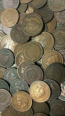 Old Indian Cents Collection 1880's to 1900's  - Ten Indian Cent Collection !!