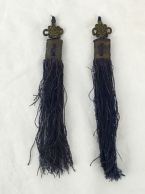 19th Century Chinese Tassle, Gold Couching, Longevity Character, Qing Dynasty