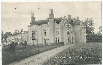 Bredfield House, Woodbridge, 1910 postcard