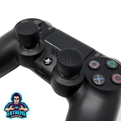 [BLACK] Extreme Analog Thumb Stick Cover Grip Caps Extenders for PS4 Controller