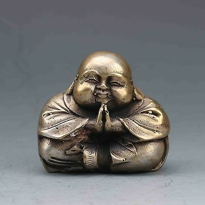 Chinese Brass Hand-carved Buddha Statue G562