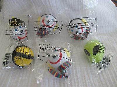 Lot of 6 Antenna toppers~ 5 Jack in the Box~ 1 Alien
