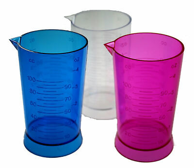Denman Peroxide Measuring Cup Tinting Pink Blue Clear